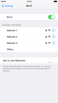 Apple iPhone 6 Plus iOS 9 - Wi-Fi - Connect to Wi-Fi network - Step 5