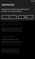 Nokia Lumia 925 - Gerät - Zurücksetzen auf die Werkseinstellungen - Schritt 8