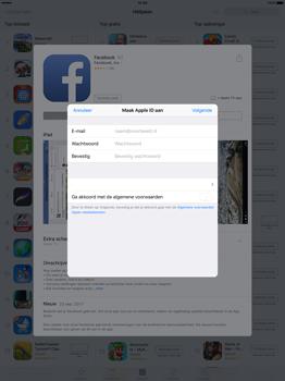 Apple iPad Pro 12.9 inch (Model A1671) - Applicaties - Account aanmaken - Stap 8