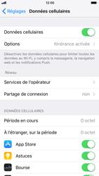 Apple iPhone 8 - Internet et roaming de données - Comment vérifier que la connexion des données est activée - Étape 5
