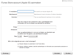 Apple The New iPad - Applicaties - Account aanmaken - Stap 8