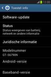 Samsung S6790 Galaxy Fame Lite - software - update installeren zonder pc - stap 5