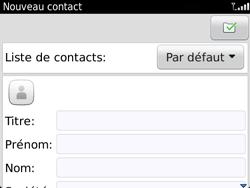 BlackBerry 9720 - Contact, Appels, SMS/MMS - Ajouter un contact - Étape 5