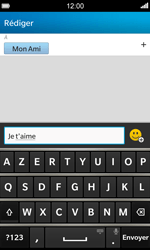 BlackBerry Z10 - Contact, Appels, SMS/MMS - Envoyer un SMS - Étape 8