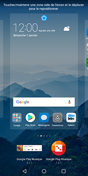 Huawei Mate 10 Pro - Prise en main - Installation de widgets et d