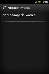 Sony ST23i Xperia Miro - Messagerie vocale - configuration manuelle - Étape 9