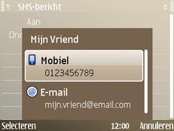 Nokia E72 - MMS - Afbeeldingen verzenden - Stap 7