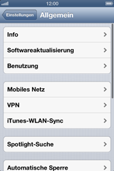 Apple iPhone 4 - Internet und Datenroaming - Manuelle Konfiguration - Schritt 4