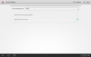Samsung P7500 Galaxy Tab 10-1 - E-mail - Manual configuration - Step 10