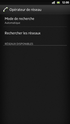 Sony Xperia S - Réseau - Sélection manuelle du réseau - Étape 7