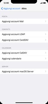 Apple iPhone X - E-mail - configurazione manuale - Fase 6