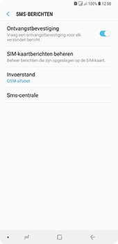Samsung Galaxy A9 (2018) - sms - handmatig instellen - stap 11