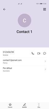 Huawei P40 Pro - Contact, Appels, SMS/MMS - Ajouter un contact - Étape 12