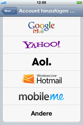 Apple iPhone 3GS - E-Mail - Konto einrichten - Schritt 5