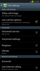 Samsung N7100 Galaxy Note II - Voicemail - Manual configuration - Step 5