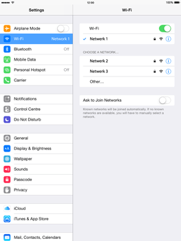 Apple iPad mini - iOS 8 - WiFi - WiFi configuration - Step 7
