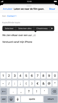 Apple iPhone 6 Plus - iOS 11 - E-mail - E-mails verzenden - Stap 9