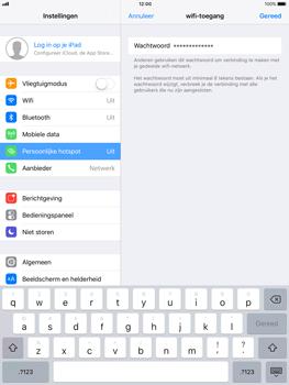 Apple ipad-air-met-ios-11-model-a1475 - WiFi - Mobiele hotspot instellen - Stap 5