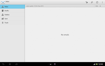 Sony Xperia Tablet Z LTE - E-mail - Manual configuration - Step 4