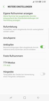 Samsung Galaxy S8 - Anrufe - Rufumleitungen setzen und löschen - Schritt 8