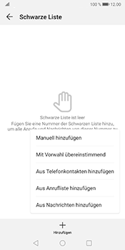 Huawei Mate 10 Pro - Android Pie - Anrufe - Anrufe blockieren - Schritt 8