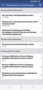 Samsung Galaxy S8 Plus - Datenschutz und Sicherheit - Datenschutzeinstellungen von Facebook ändern - 30 / 35