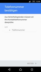 Sony E5603 Xperia M5 - Apps - Konto anlegen und einrichten - Schritt 7