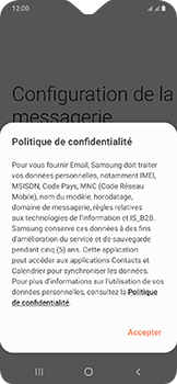 Samsung Galaxy A20e - E-mail - Configurer l