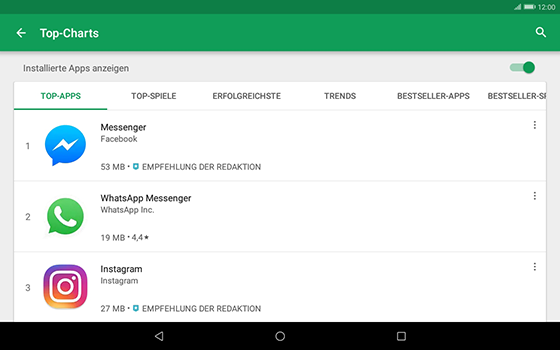 Huawei MediaPad T3 (10.0) LTE - Apps - Herunterladen - 2 / 2