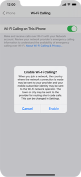 Apple iPhone 11 - iOS 14 - WiFi - Enable WiFi Calling - Step 7