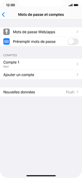 Apple iPhone X - iOS 13 - E-mail - Configurer l