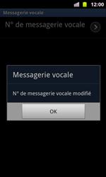 Samsung I8160 Galaxy Ace II - Messagerie vocale - Configuration manuelle - Étape 8