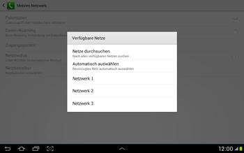 Samsung Galaxy Tab 2 10.1 - Netzwerk - Manuelle Netzwerkwahl - Schritt 10