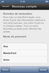 Apple iPhone 4 S - Applications - Créer un compte - Étape 13