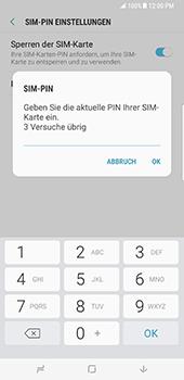 Samsung Galaxy S8 Plus - Datenschutz und Sicherheit - PIN-Code der SIM-Karte ändern - 8 / 12