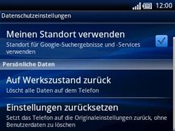 Sony Ericsson Xperia X10 Mini Pro - Fehlerbehebung - Handy zurücksetzen - Schritt 7