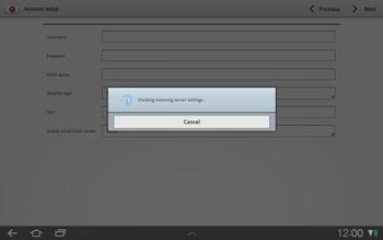 Samsung P7500 Galaxy Tab 10-1 - E-mail - Manual configuration - Step 8