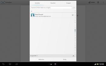 Sony Xperia Tablet Z LTE - E-Mail - E-Mail versenden - 0 / 0
