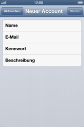Apple iPhone 4S - E-Mail - Manuelle Konfiguration - Schritt 11