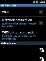 Samsung Galaxy Pocket - WiFi - WiFi configuration - Step 7