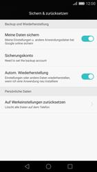 Huawei P8 - Fehlerbehebung - Handy zurücksetzen - Schritt 6