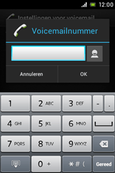 Sony ST23i Xperia Miro - Voicemail - handmatig instellen - Stap 7