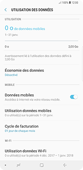 Samsung Galaxy Note9 - Internet et roaming de données - Comment vérifier que la connexion des données est activée - Étape 7