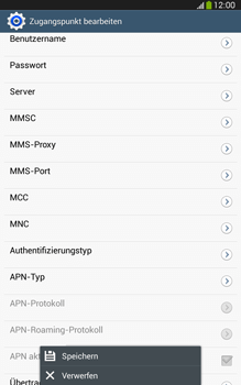Samsung Galaxy Tab 3 8-0 LTE - Internet und Datenroaming - Manuelle Konfiguration - Schritt 16