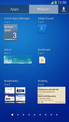 Samsung Galaxy S 4 Active - Getting started - Installing widgets and applications on your start screen - Step 7