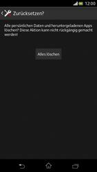 Sony Xperia V - Gerät - Zurücksetzen auf die Werkseinstellungen - Schritt 7