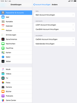 Apple iPad Air 2 - E-Mail - Konto einrichten - 6 / 30