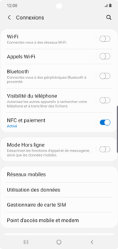 Samsung Galaxy Note 10 Plus 5G - Internet et roaming de données - Comment vérifier que la connexion des données est activée - Étape 5