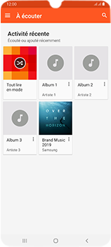 Samsung Galaxy A70 - Photos, vidéos, musique - Ecouter de la musique - Étape 6