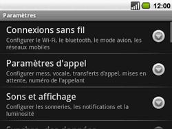 Acer BeTouch E130 - Messagerie vocale - configuration manuelle - Étape 4